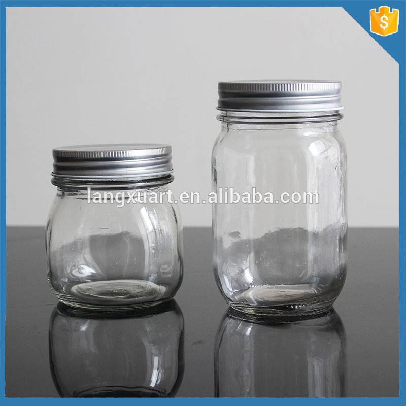 Wholesale 8oz small glass mason jar cup with lids and hole