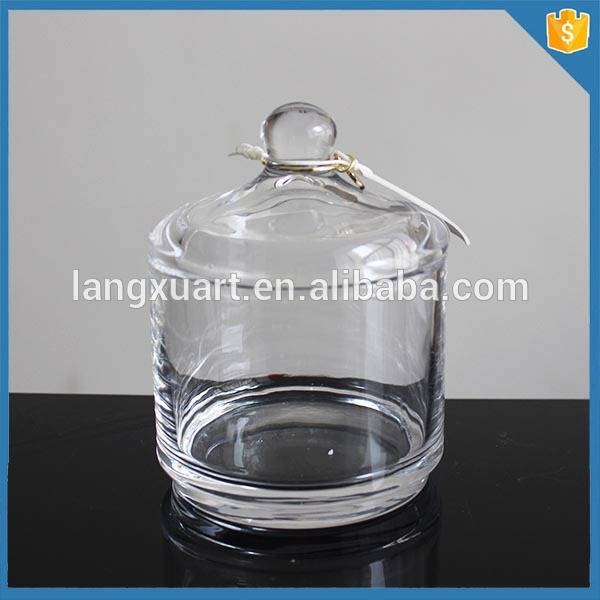 Crystal glass biscuit jars with lids