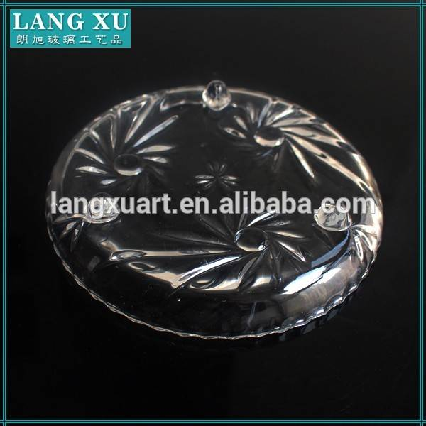 hot sale high quality tempered glass round plate
