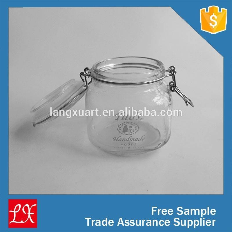 new style large sealed glass container for food