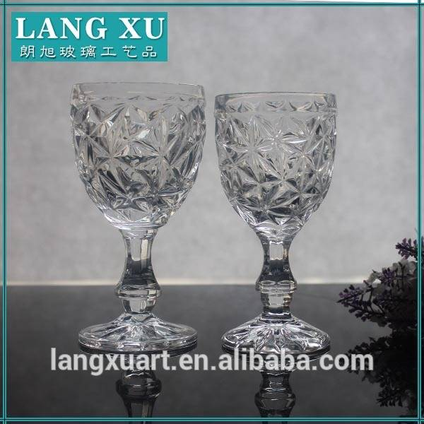 LX-G024 hand pressed crystal wine goblet glass
