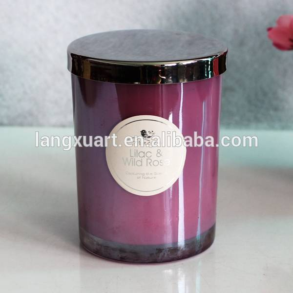 8 oz spray paint lilac glass jar with lid