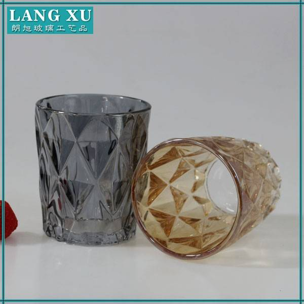 Cheap Embossed candle glass tumblers for candles