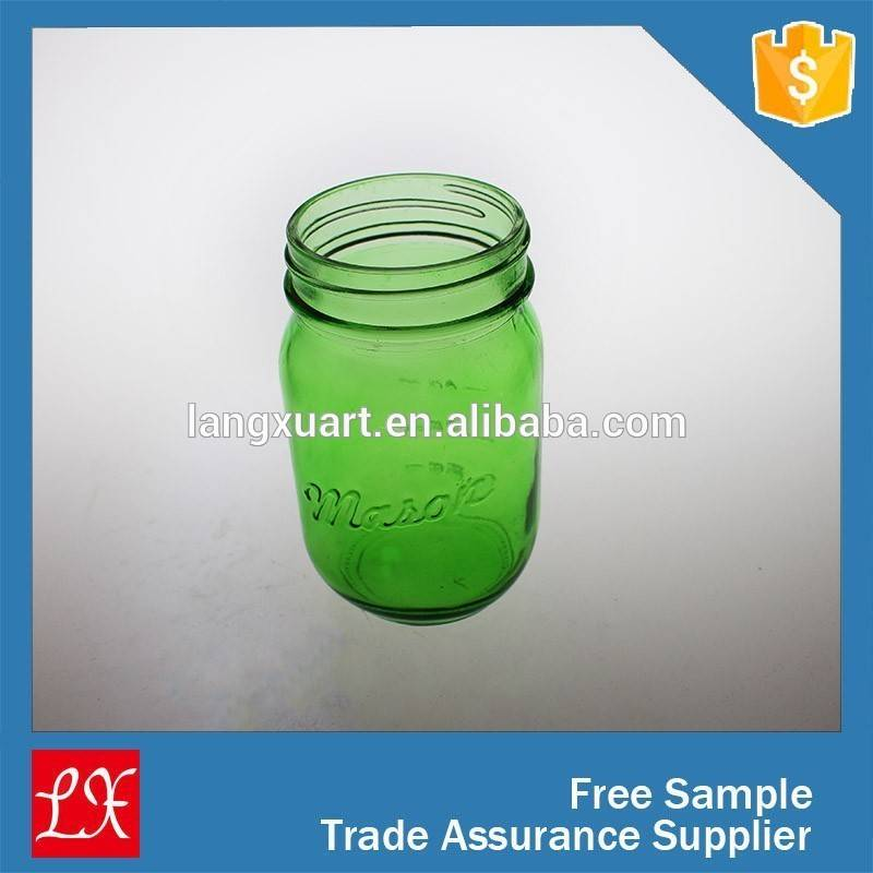 wholesale cheap fancy unique colorful canning jars