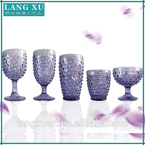deluxe beaded glass cup set purple drinking glass set