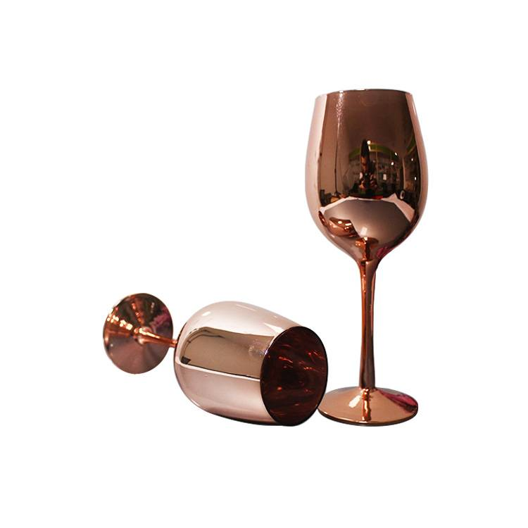 Eco Friendly hot sale rose gold colored glass s...