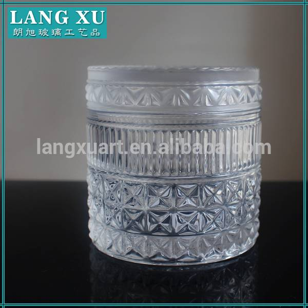 factory manufacture ceramic crystal amber candle jar with lid