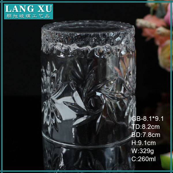 Langxu unique empty candle jars with lids