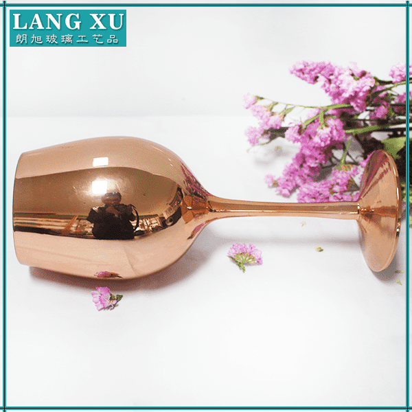 Eco Friendly hot sale rose gold colored glass stemware supplier
