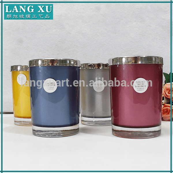 China wholesale paraffin rose gold scents custom printed candle jars wholesale