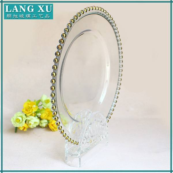 Fashion Design gold color cheap charger plates wholesale for wedding