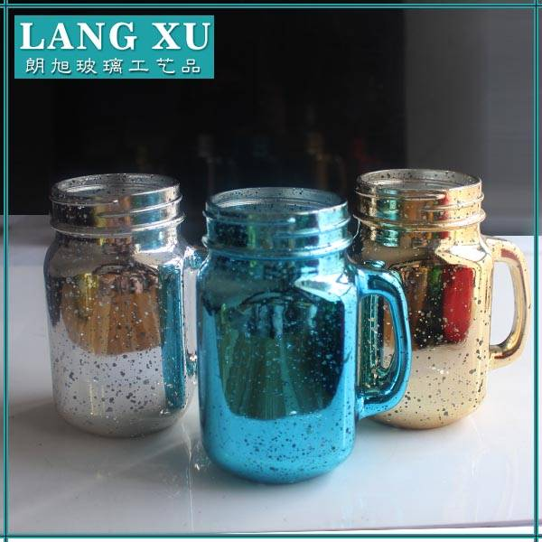 Hot sale pump lid glass mason jar wholesale with handle