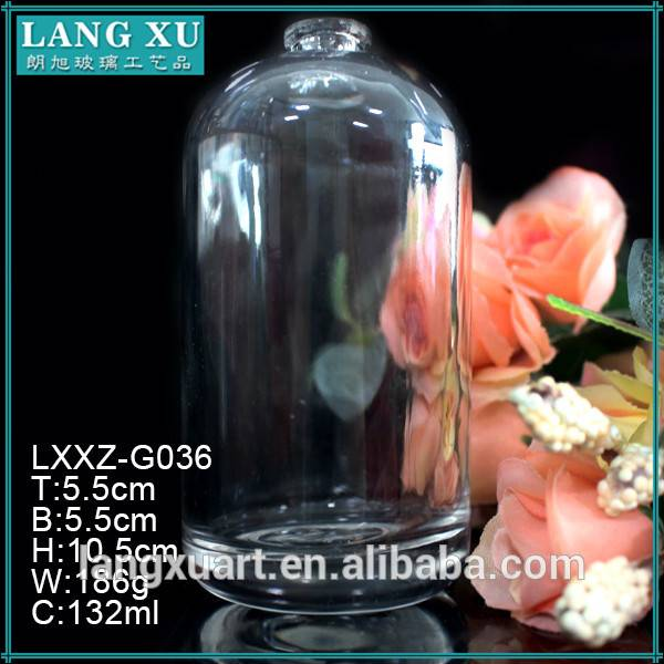 130ml clear luxury shampoo cosmetic bottles and jars