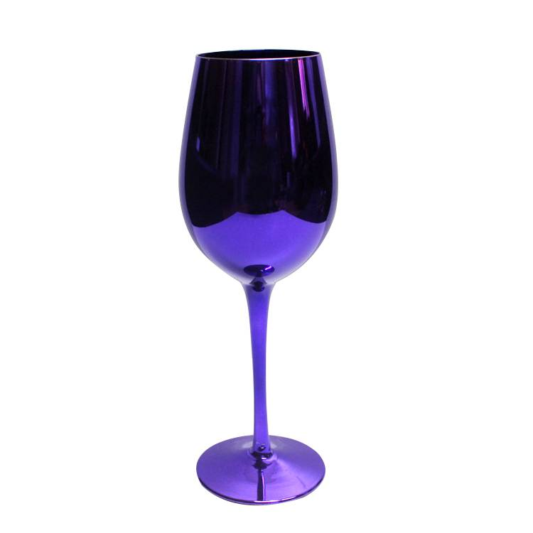 colored electroplated goblets