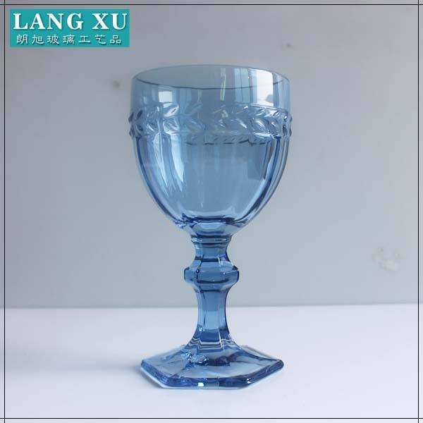 Wine stemware colored glass goblet