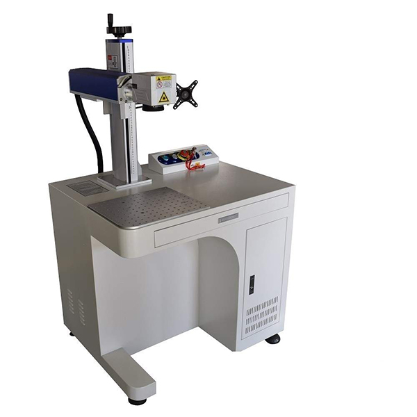 Raycus 30W Cabinet Fiber Laser Marking Machine EZ Cad FDA Certified for Metal