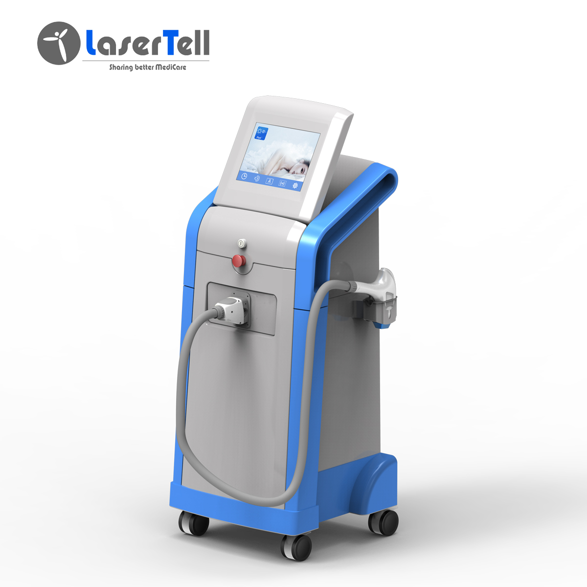 LaserTell Vertical 1200W Hair Removal 808Nm Laser Diode In Laser Beauty Equipment