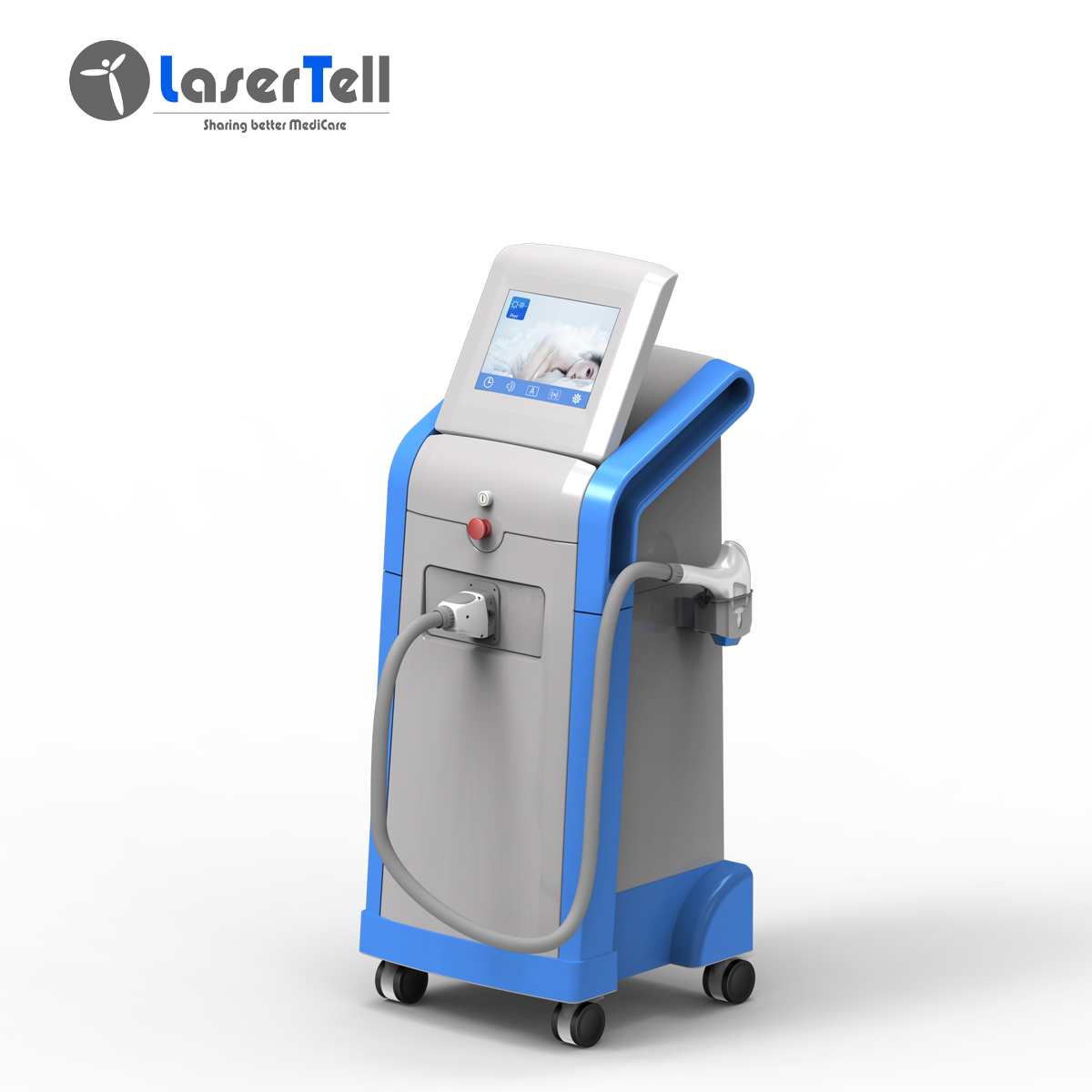 Best Seller Painless and Permanent 1200W Semiconductor laser 808nm hair removal 808 diode laser AlexMED Pro