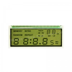 Custom segment LCD temperature controller lcd display metal pins interface