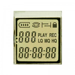 Custom 7 segment lcd display without controller