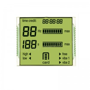 Custom made TN STN FSTN VA HTN monochrome lcd segment lcd display panel for energy meterelectricity meter