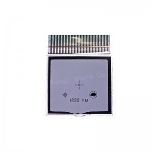 Custom size Numeric 7 Segment LCD Display White On Black LCD For Thermostat A detailed introduction