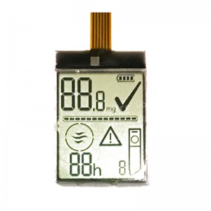 monochrome segment LCD for thermometer A detailed introduction