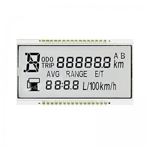 Super wide Temperature 7 segment LCD Display