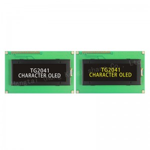 OLED 2.89 2004 character lcd display SPI without backlight super wide temperature -40~+80 IC US2011