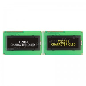 OLED 2004 character lcd display SPI without backlight super wide temperature -40~+80 IC US2011