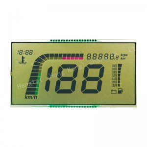 custom HTN Blue segment monochrome alphanumeric LCD display module manufacturer with IC HT1621