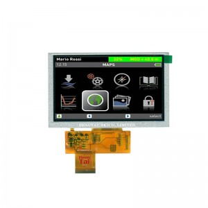 5.0″ 800480 850cdm high brightness sunlight readable, RTPCTP optional, TTL 40pins