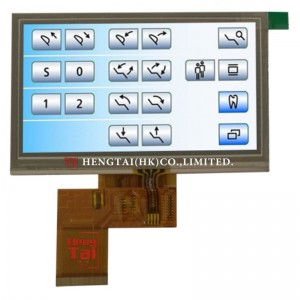 4.3″ 480X272 350cdm2 with RTP, TTL Interface, ST7282T2 40pins