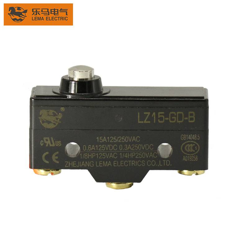 LZ15-GD-B mechanical lever latching 125VAC 15a micro switch for general basic switch