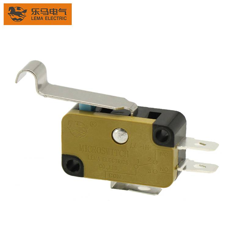 2020 wholesale price 250v Ac Micro Switch T105 5e4 - Lema electrical KW7N-5IT bent lever 16a 250v microswitch for home appliance – Lema