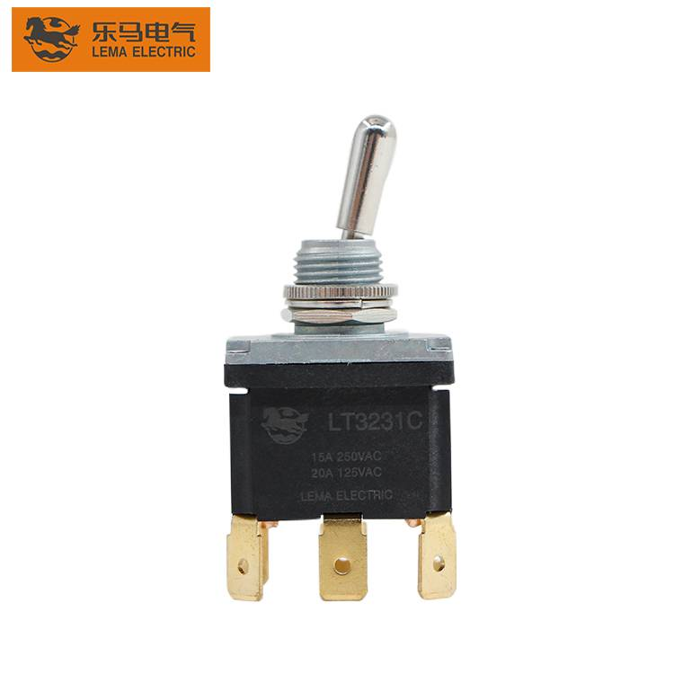 LT3231C metal spring return toggle switch 6 pin on off toggle switch