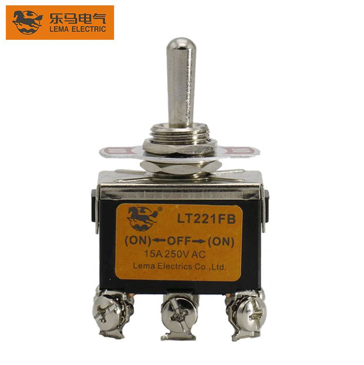 LT221FB Double Throw 3 Way Position Auto Return Type 1322 ON-OFF-ON Toggle Switch