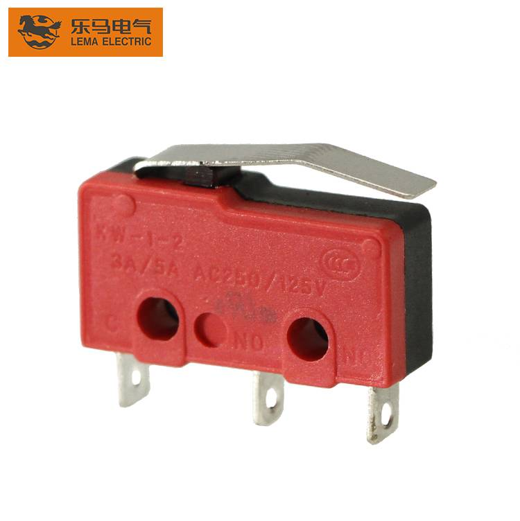 KW12-13 5A lever solder terminal micro switch miniature electrical switches