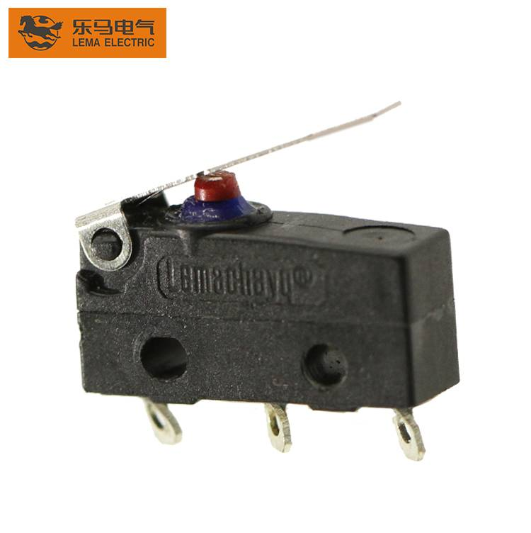 Lema KW12F-1 waterproof micro switch with lever subminiature IP67