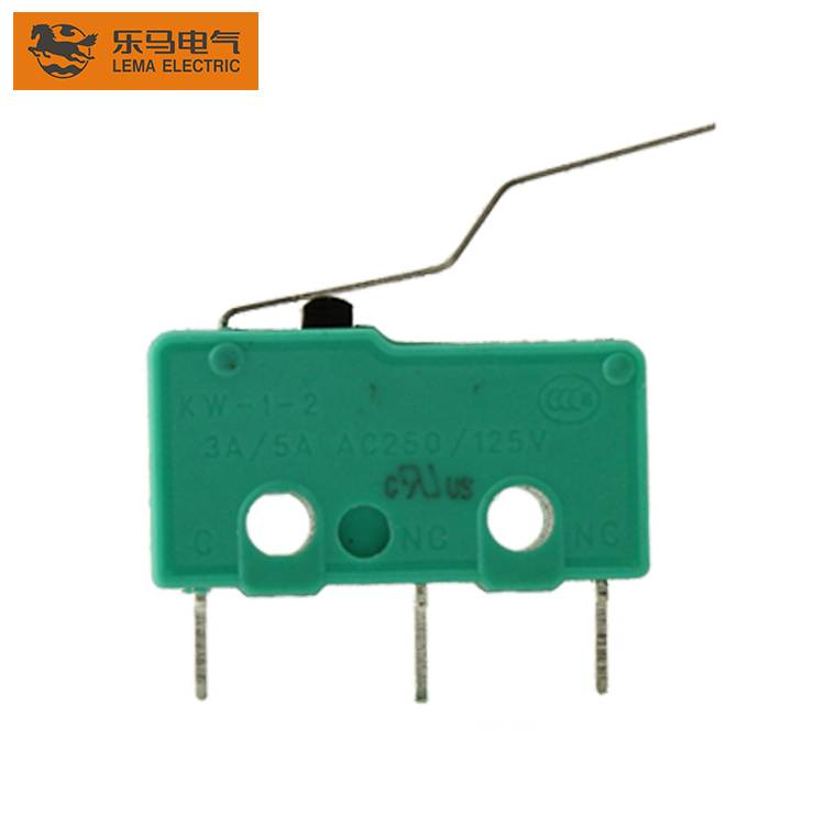 KW12-4S bent lever electrical sensitive micro switch pcb microswitch