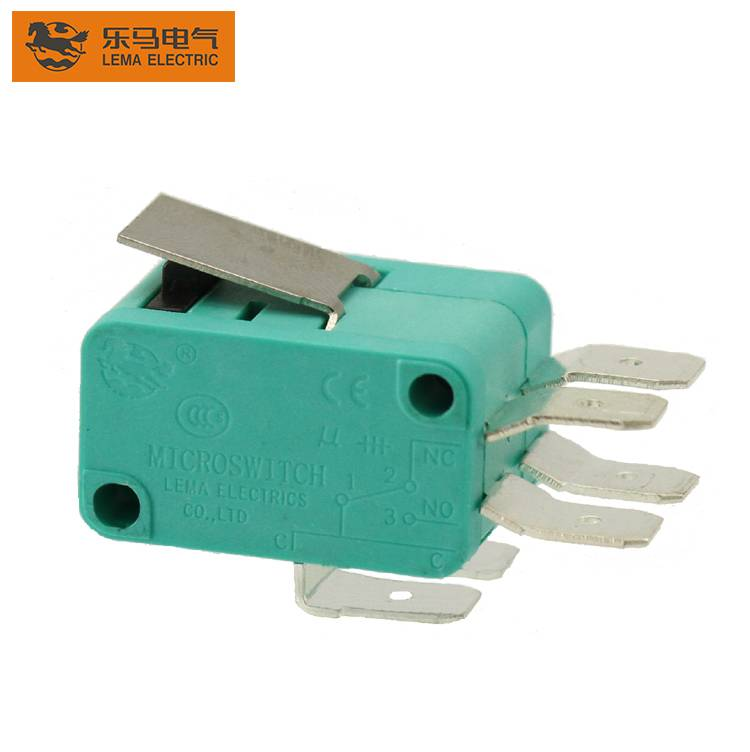 Lema KW7-1II green double action switch 6.3*0.8 terminal micro switch