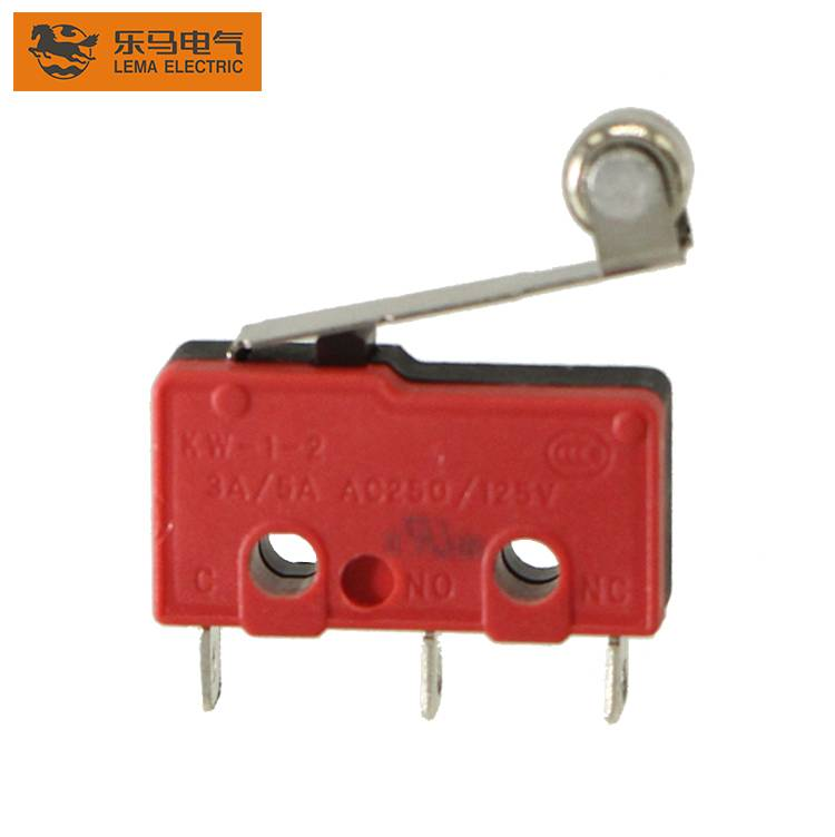 Lema high quality KW12-2 roller lever subminiature micro switch 3a 125 250vac