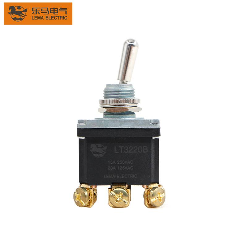 High voltage LT3220B 15A 125/250VAC 3Pin 3-way waterproof toggle switch