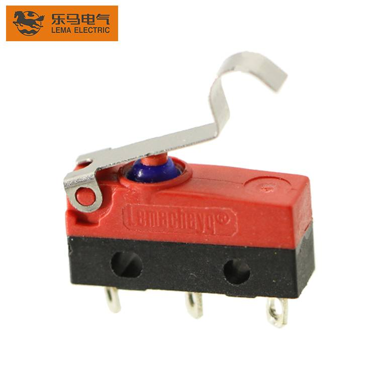 China Wholesale Micro Switch 25t85 Micro Switch Pricelist –  Lema KW12F-5 bent lever sensitive waterproof micro switch 12v ip67 – Lema