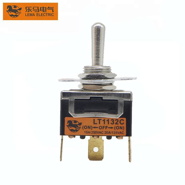 Lema LT1132C single pole on-off-on auto reset 3 pin toggle switch wiring