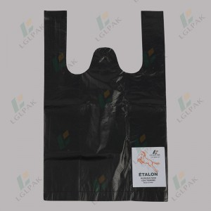 HDPE Black T-Shirt Bag