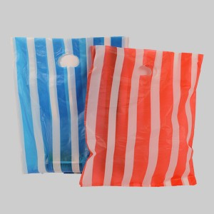 HDPE Stripe Die-Cut Garment PolyBag