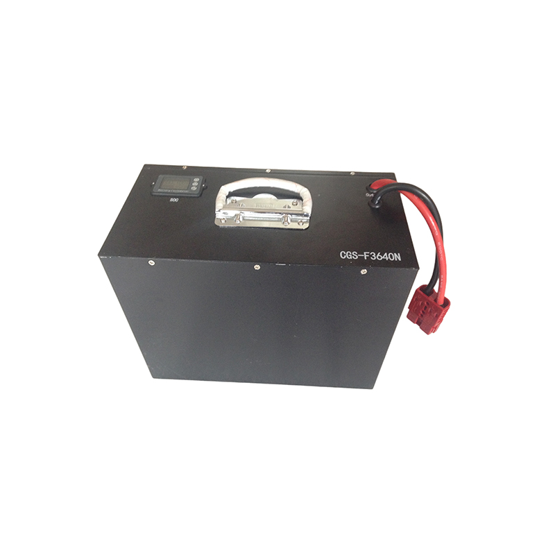 SOC and handle included 36V 40Ah LiFePO4 battery pack for electric scooter / motorcycle / bumper car Featured Image