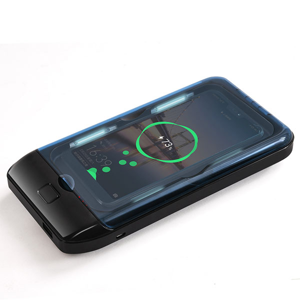 Hot Selling Portable UVC UV Sterilizer Box Mobile Phones Sanitizer Case With Wireless Charger Funtion For Smart Phone