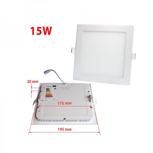 20x20cm 15W 18W Recess Square LED Built-in Ceiling Panel Downlight